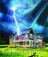 Молниезащита зданий, молниеприемник г.Биробиджан